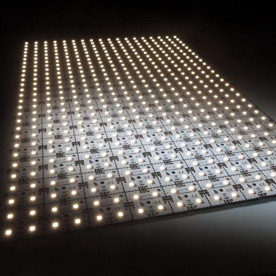 Nichia LED Módulo de luz de fondo Matrix Mini 126 segmentos (9x14) 504 LED 24V Blanco 3500K 60.5W 9175m