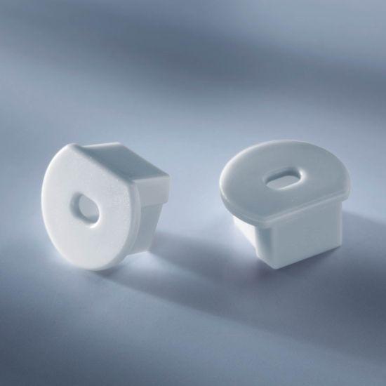 Tapa de extremo abierta para Aluflex Perfil de aluminio para tiras de LED redondas 1020mm