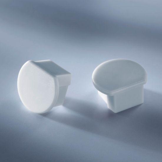 Tapa cerrada para Aluflex Perfil de aluminio para tiras de LED redondas 1020mm