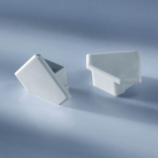 Tapa cerrada para Aluflex Perfil de aluminio para tiras de LED esquina 1020mm