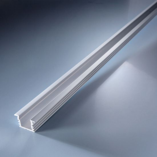 Perfil de aluminio Aluflex profundo para tiras LED flexibles 102cm