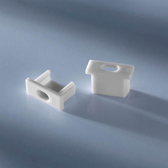 Tapa de extremo abierta para Aluflex Perfil de aluminio para tiras LED de baja altura 1020mm