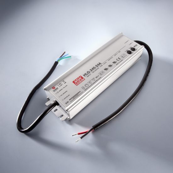 MEAN WELL transformador de tensión constante HLG-240H-12B IP67 230V a 12V 16A 192W DIM