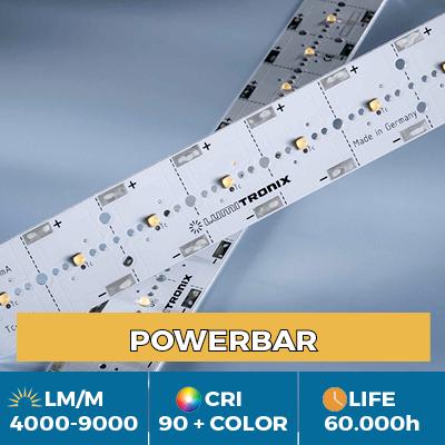 Módulos profesionales PowerBar, hasta 11.000 lm/m, blanco, color y luz UV