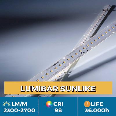 Módulos LinearZ profesionales con Toshiba-SSC SunLike TRI-R LED CRI97 +, Plug & Play Zhaga, flujo hasta 2600 lm/m