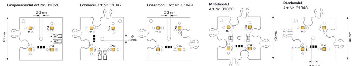 Módulo ConexMatrix 4 LED blanco cálido CRI90