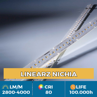 Módulos LED LinearZ profesionales, Plug & Play Zhaga, flujo luminoso hasta 4100 lm / m