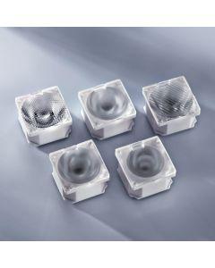 Lente de ledil 21.6x21.6mm para Nichia UV NCSU033B 10 grados