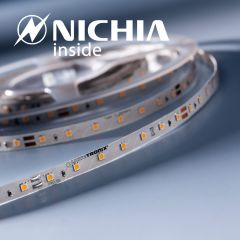 LumiFlex 35 Nichia Tira LED Flexibile blanco cálido 2700K 1220lm 24V 70 LED/m precio por 50cm (1220lm/m 9.6W/m)