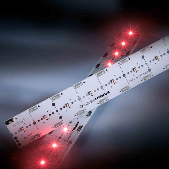 Módulo LED PowerBar V3 Aluminio rojo 623nm 1640lm 700mA 12x Osram Oslon SSL LED 29cm (5656lm/m)