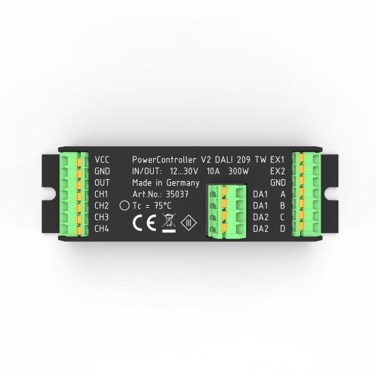 Unidad de control de iluminación PowerController V2 blanco sintonizable via DALI 209 2-saídas, 10-30VDC hasta 300W
