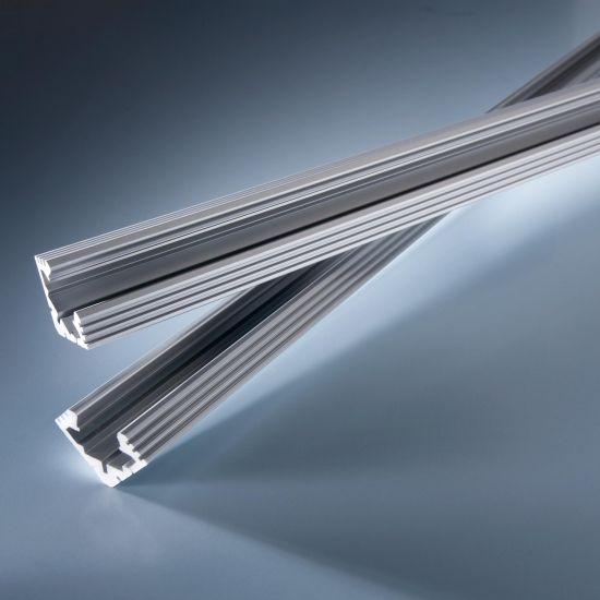 Perfil de aluminio Esquina aluvial para tiras de LED flexibles 102cm