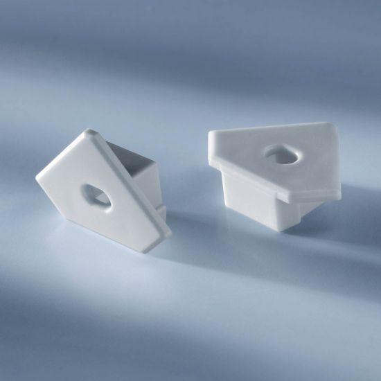 Tapa de extremo abierta para Aluflex Perfil de aluminio para tiras de LED esquina 1020mm