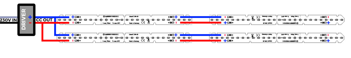 Guía de conexión de las tiras LED en serie y en paralelo