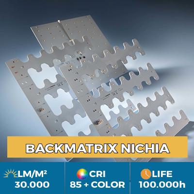 Módulos LED profesionales BackMatrix Nichia, hasta 39.000 lm / metro cuadrado