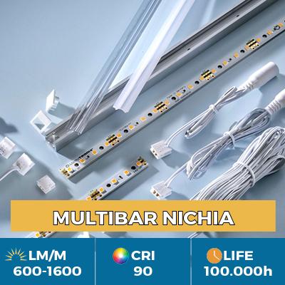 Tiras LED Nichia Professional Multibar, Plug & Play, CRI90+, flujo hasta 1500 lm/m