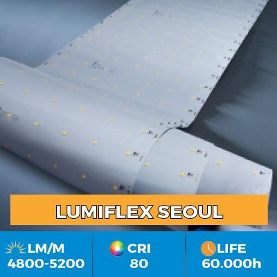 Tiras LED profesionales Z-Flex de Seoul Semiconductor, hasta 6200 lm por metro, en versiones de una o varias filas des LEDs