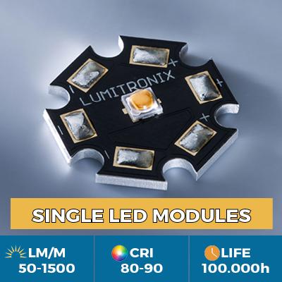 LEDs Cree y Nichia en la estrella o PCB cuadrado de 1x1cm