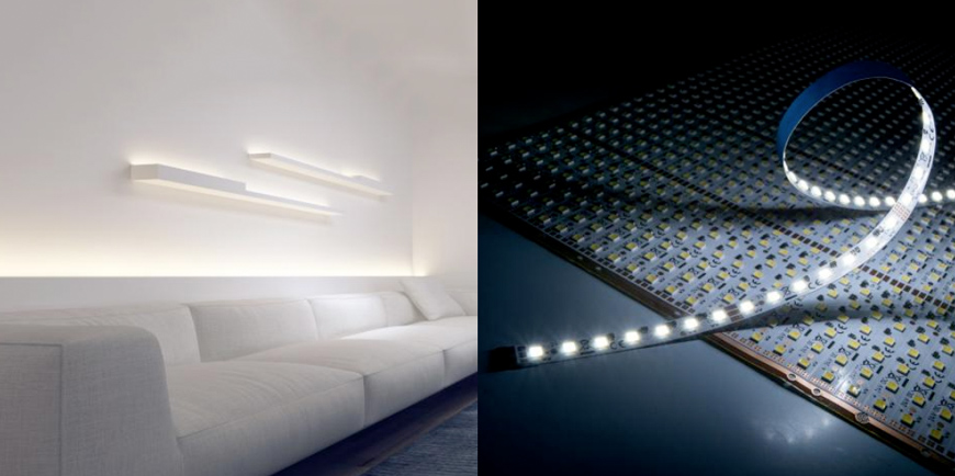 Tiras flexibles blancas afinables y módulos con LEDs similares a los de Nichia o Sun.