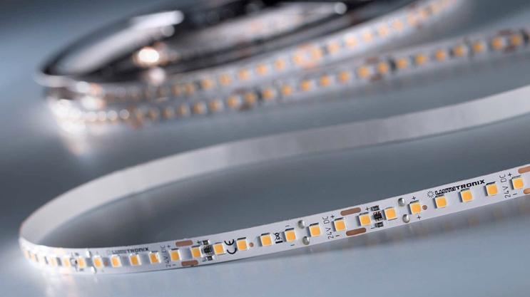 Tiras LED SunLike con CRI97  y salida de luz de hasta 1800 lm / m
